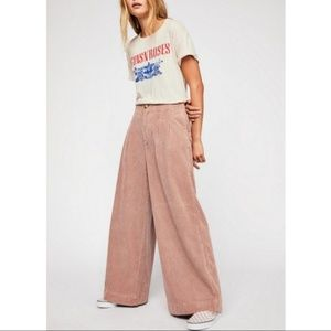NWOT Free People Extreme Pleated Cord Trousers